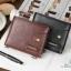 กระเป๋าสตางค์ผู้ชาย หนังแท้ ทรงสั้น Shidai Piroyce - สีน้ำตาล thumbnail 15