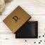 กระเป๋าสตางค์ผู้ชาย หนังแท้ ทรงสั้น Leather DIDE - สีดำ thumbnail 24