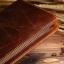 กระเป๋าสตางค์ผู้ชาย หนังแท้ ทรงยาว Wallet Long Leather Zipper - สีน้ำตาลเข้ม thumbnail 3