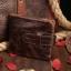 กระเป๋าสตางค์ผู้ชาย หนังแท้ ทรงสั้น Short Leather Wax - สีน้ำตาลเข้ม thumbnail 2