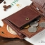 กระเป๋าสตางค์ผู้ชาย หนังแท้ ทรงสั้น Shidai Piroyce - สีน้ำตาล thumbnail 10