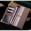 กระเป๋าสตางค์ผู้ชาย ทรงยาว JI&XIA Button Metal Brown - สีน้ำตาล thumbnail 2