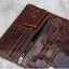 กระเป๋าสตางค์ผู้ชาย หนังแท้ ทรงยาว Long Leather Dark - สีน้ำตาลเข้ม thumbnail 5