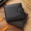 กระเป๋าสตางค์ผู้ชาย หนังแท้ ทรงสั้น JINBAOLAI - สีดำ thumbnail 7