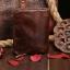 กระเป๋าสตางค์ผู้ชาย หนังแท้ ทรงตั้ง Ven Leather Wax - สีน้ำตาลเข้ม thumbnail 3