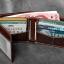 กระเป๋าสตางค์ผู้ชาย หนังแท้ ทรงสั้น T0180 - สีน้ำตาลเข้ม thumbnail 6