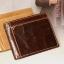 กระเป๋าสตางค์ผู้ชาย หนังแท้ ทรงสั้น T0182 - สีน้ำตาลเข้ม thumbnail 9