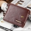 กระเป๋าสตางค์ผู้ชาย หนังแท้ ทรงสั้น Shidai Piroyce - สีน้ำตาล thumbnail 14