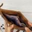 กระเป๋าสตางค์ผู้ชาย หนังแท้ ทรงตั้ง หนังนิ่ม วินเทจ ซิปคู่ Contacts two Zipper - สีน้ำตาล thumbnail 12