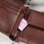 กระเป๋าสตางค์ผู้ชาย หนังแท้ ทรงสั้น Shidai Piroyce - สีน้ำตาล thumbnail 12