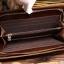 กระเป๋าสตางค์ผู้ชาย หนังแท้ ทรงยาว Wallet Long Leather Zipper - สีน้ำตาลเข้ม thumbnail 4