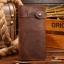 กระเป๋าสตางค์ผู้ชาย หนังแท้ ทรงยาว Wallet Long Leather - สีน้ำตาล thumbnail 1