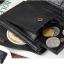 กระเป๋าสตางค์ผู้ชาย หนังแท้ ทรงสั้น Shidai Piroyce - สีดำ thumbnail 7