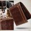 กระเป๋าสตางค์ผู้ชาย หนังแท้ ทรงสั้น T0182 - สีน้ำตาลเข้ม thumbnail 8