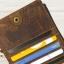กระเป๋าสตางค์ผู้ชาย หนังแท้ ทรงยาว ใส่บัตรได้เยอะ - สีน้ำตาล thumbnail 8
