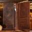 กระเป๋าสตางค์ผู้ชาย หนังแท้ ทรงยาว Wallet Long Leather - สีน้ำตาล thumbnail 5