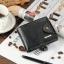 กระเป๋าสตางค์ผู้ชาย หนังแท้ ทรงสั้น Shidai Piroyce - สีดำ thumbnail 4