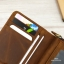 กระเป๋าสตางค์ผู้ชาย หนังแท้ ทรงตั้ง Zipper Button - สีน้ำตาล thumbnail 5