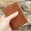 กระเป๋าสตางค์ผู้ชาย หนังแท้ แบบหนีบแบงค์ - สีน้ำตาล thumbnail 2