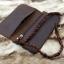 กระเป๋าสตางค์ผู้ชาย หนังแท้ ทรงยาว Leather Rock - สีน้ำตาลดำ thumbnail 3