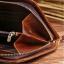กระเป๋าสตางค์ผู้ชาย หนังแท้ ทรงยาว Wallet Long Leather Zipper - สีน้ำตาลเข้ม thumbnail 5