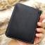 กระเป๋าสตางค์ผู้ชาย หนังแท้ ทรงสั้น Leather DIDE - สีดำ thumbnail 9