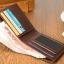 กระเป๋าสตางค์ผู้ชาย ทรงสั้น รุ่น Yatebao Brown - สีน้ำตาล thumbnail 5