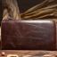 กระเป๋าสตางค์ผู้ชาย หนังแท้ ทรงยาว Wallet Long Leather Zipper - สีน้ำตาลเข้ม thumbnail 6