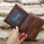 กระเป๋าสตางค์ผู้ชาย หนังแท้ ทรงตั้ง Leather Clear - สีน้ำตาล thumbnail 7