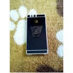 TPU โครเมี่ยมพร้อมแหวน Huawei P9 สีดำ