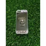 Tpu โครเมี่ยมประดับเพชรหัวท้าย(มีแหวน) iPhone5/5s/5se สีดำ