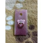 TPU กากเพชร (มีเเหวนตั้งได้) P9 สีชมพู