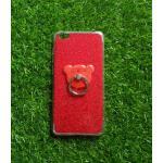 TPU กากเพชร (มีเเหวนตั้งได้) VIVO Y55/Y55S(ใช้เคสตัวเดียวกัน) สีแดง