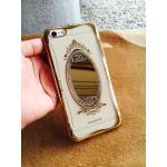 TPU Princess(มีกระจก) iphone5/5s/se สีทอง