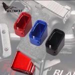 New.TARAN ยุทธวิธีนวัตกรรม-อาวุธฐาน อลูมิเนียม PAD KIT สำหรับ GLOCK The USPA IPSC และ IDPACS กีฬา ส้นแมกอลูมิเนียม cnc. สำหรับปืน GLOCK 9/40 + เพิ่ม 5 นัด ขนาด 9 mm. + เพิ่ม 4 นัด ขนาด .40 สีดำ สีแดง สีฟ้า ราคาพิเศษ