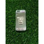 Tpu โครเมี่ยมประดับเพชรหัวท้าย(มีแหวน) iPhone5/5s/5se สีเงิน