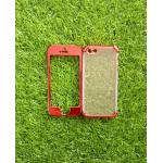 TPU ประกบหน้าหลังโครเมี่ยม iphone5/5s/se สีแดง