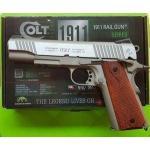 New.ปืนสั้นอัดแก๊สCybergun Colt 1911 Rail Gun Co2 Pistol 🎯KWC เป็นผู้ผลิตภายใต้แบนด์ Cybergun 🎯ตัวปืนสแตนเลส ยิงแรงถีบของปืนได้อารมณ์ 🎯ตัวปืนทำเหมือน Inokusu มากแต่ใกล้เคียง 🎯สีปืนทำเหมือนจริงมาก สีปืน Crakote เซราโคส &#x1F