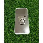 TPU โครเมี่ยมพร้อมแหวน iphone6/6s สีดำ