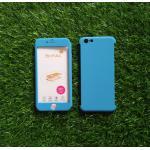 PC ประกบ360องศา+ฟิล์มกระจกสีฟ้า iphone6/6s