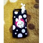 TPU สัตว์เกาะหลัง iphone7 plus/iphone8 plus(ใช้เคสตัวเดียวกัน) ลายกระต่ายน้อยจุด