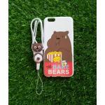TPU moomin พร้อมสาย Oppo R9S ลายหมีน้ำตาลสีขาว
