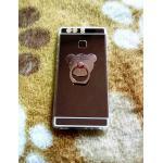 TPU โครเมี่ยมพร้อมแหวน Huawei P9 สีชมพู