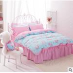 5ฟุต สีชมพูฟ้าดอกไม้วินเทจ