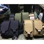 New.สินค้ามาใหม่ ซองรัดต้นขา ซองใส่แม็ก M4/M16 3 แม็ก ซองใส่แม็กปืนปก 2 แม็ก มี3สี ดำ ทราย เขียว ผ้า CORDURA แท้ ราคาพิเศษ