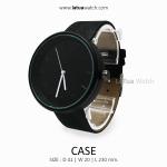 นาฬิกาข้อมือรุ่น CASE หน้าปัดดำ สายสีดำ