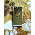 TPU โครเมี่ยมพร้อมแหวน Huawei P9 สีทอง