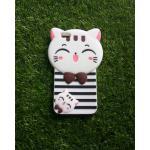 ซิลิโคนแมวนำโชค(ใหม่) Oppo R9S สีขาว