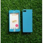 PC ประกบ360องศา+ฟิล์มกระจกสีฟ้า iphone5/5s/se