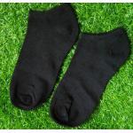 ถุงเท้าสีพื้น คุณภาพดี (Free Size) 1คู่ สีดำ